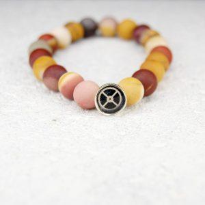 Mookaite bead bracelet