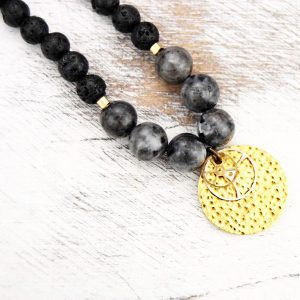 Lava beaded necklace