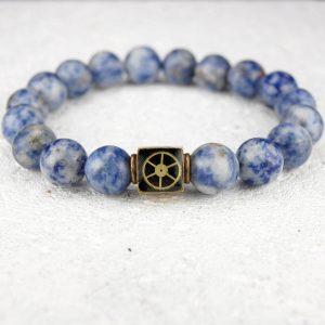 Sodalite bead bracelet