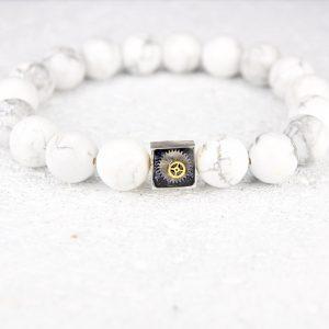 White howlite bracelet