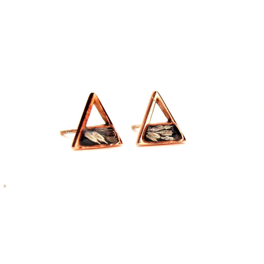 56b67011 Triangle Stud Earrings