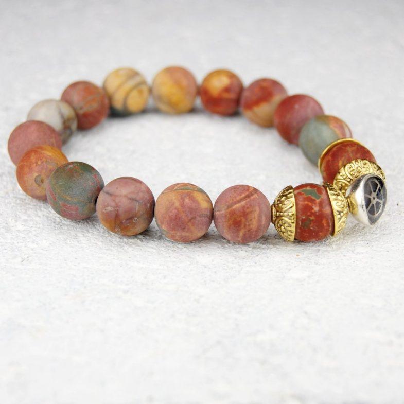 Jasper bead bracelet