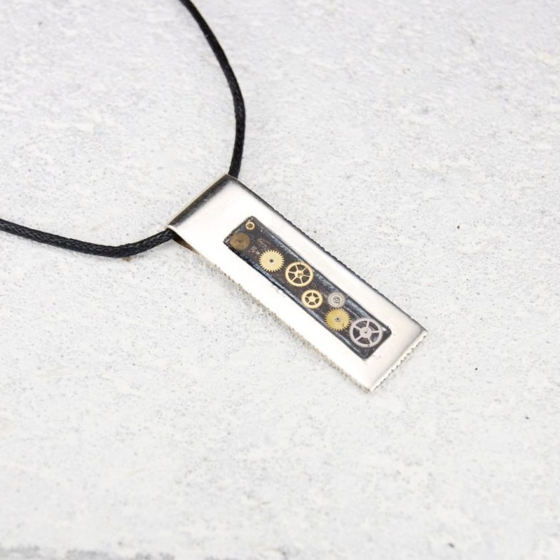 Mens rectangle necklace