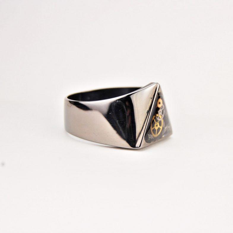 Mens black ring