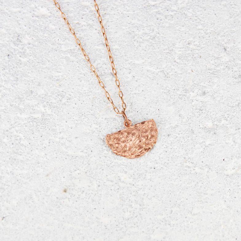 hammered copper pendant