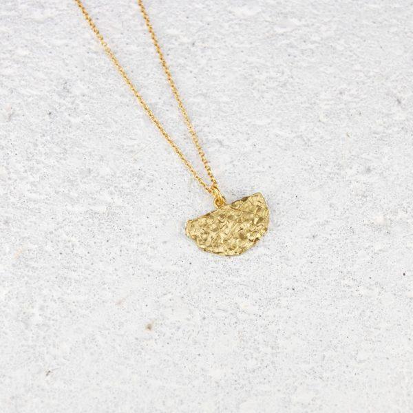 hammered brass pendant