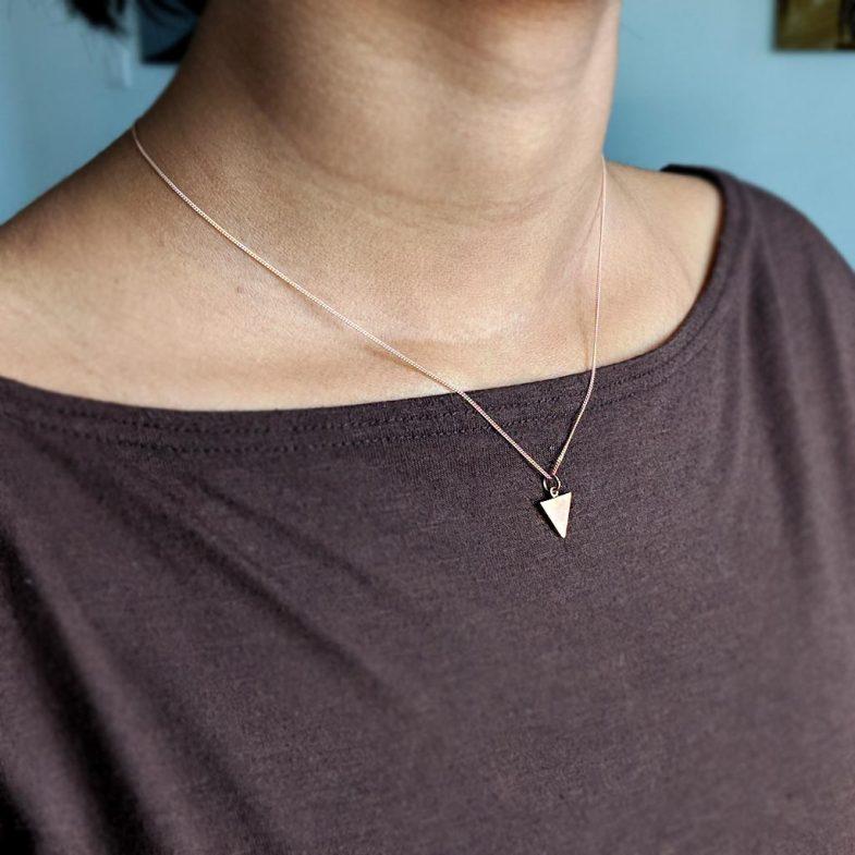 minimalist triangle pendant