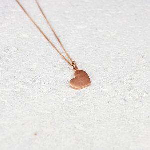 small copper heart pendant