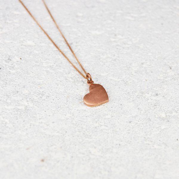 small copper heart pendant