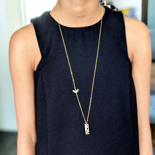 brass charm necklace