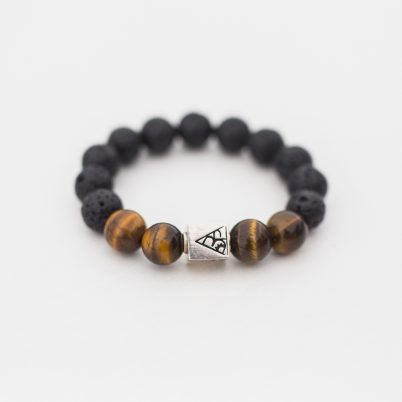 Lava tigers eye mix bead bracelet