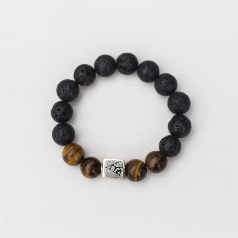 Lava tigers eye mix bead bracelet