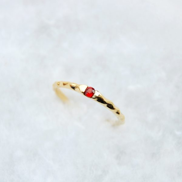 Red sapphire ring