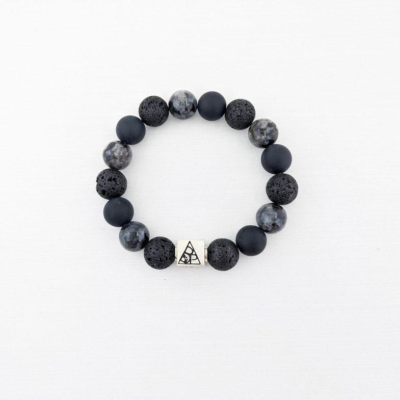 Mens chunky bead bracelet