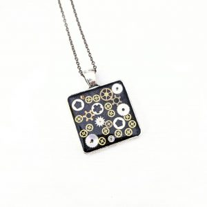 Square gear pendant
