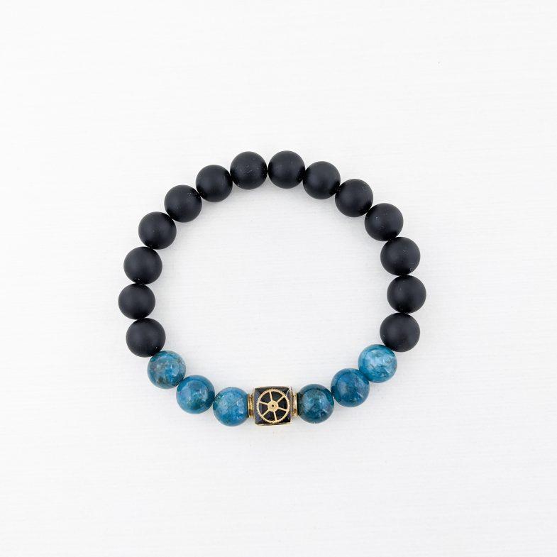 Apatite Agate Bead Bracelet