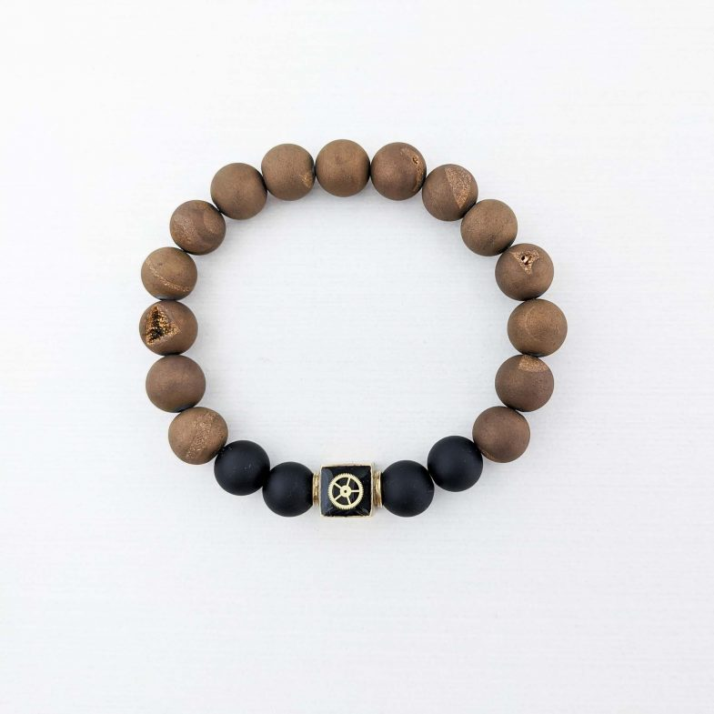 Druzy agate bracelet