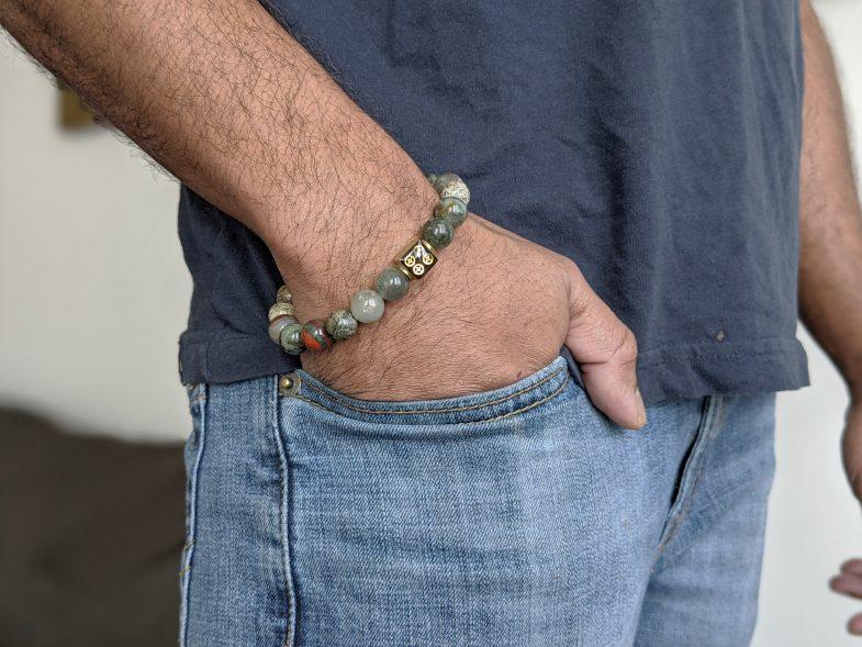 Mens stretch bracelet