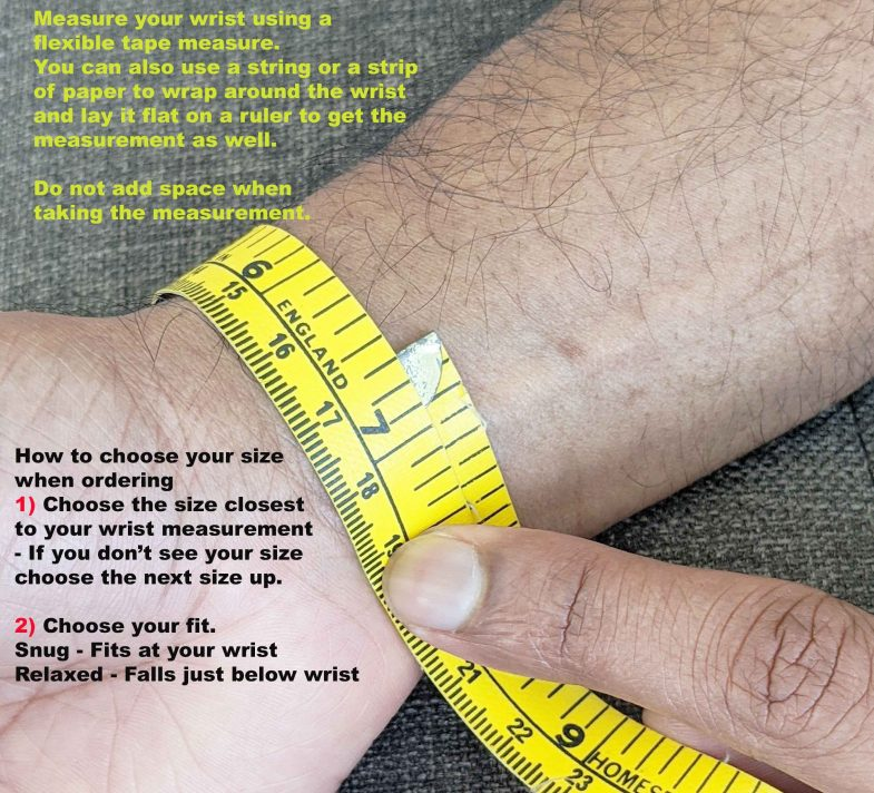 wrist measurement men
