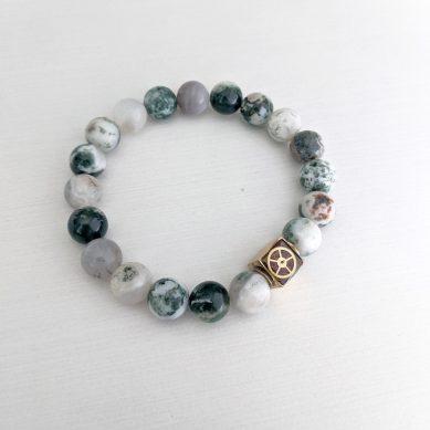 Agate bead bracelet