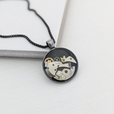 Watch gear pendant necklace